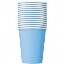 Powder Blue Paper Cups 9oz (270ml) (14pcs)